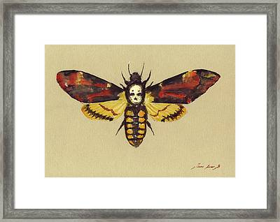 Death Head Hawk Moth Framed Print by Juan Bosco