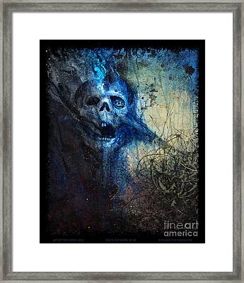 Death Is Staring At Me Framed Print by Tony Koehl