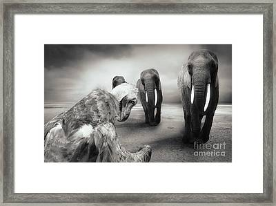 Framed Print featuring the photograph Death List by Christine Sponchia