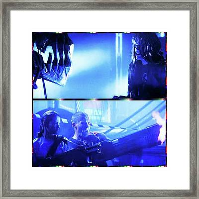death Machine Is A Great Cyberpunk Framed Print