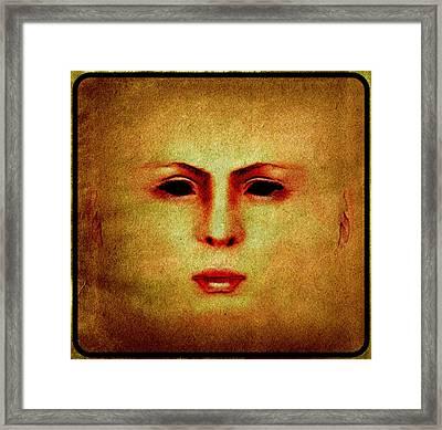Death Mask Framed Print by Pierre Blanchard