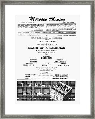 Death Of A Salesman, 1949 Framed Print by Granger