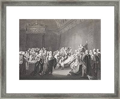 Death Of Chatham. William Pitt, 1st Framed Print