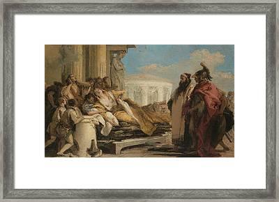 Death Of Dido Framed Print by Giovanni Battista Tiepolo