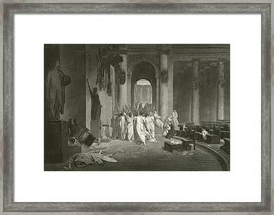 Death Of Julius Caesar, 44 Bc  Framed Print