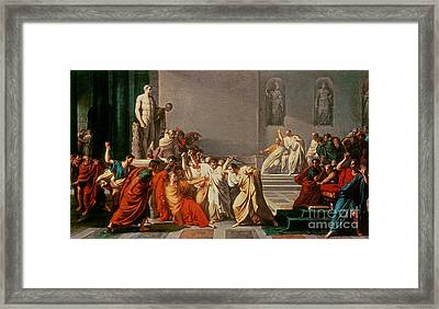 Death Of Julius Caesar Framed Print by Vincenzo Camuccini