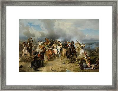 Death Of King Gustav II Adolf Of Sweden At The Battle Of Lutzen Framed Print