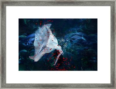Death Of Ophelia Framed Print by Georgiana Romanovna