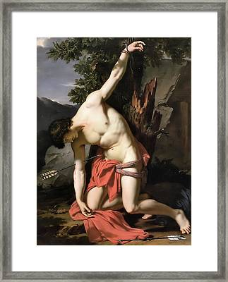 Death Of Saint Sebasian Framed Print