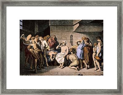 Death Of Socrates Framed Print by Granger