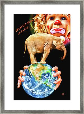 Death Of The Circus Framed Print