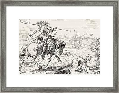 Death On Horseback From Alfred Rethel S Framed Print