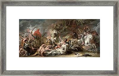 Death On The Pale Horse Framed Print by Benjamin West