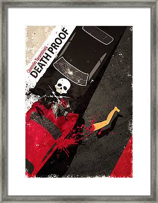 Death Proof Quentin Tarantino Movie Poster Framed Print by Lautstarke Studio