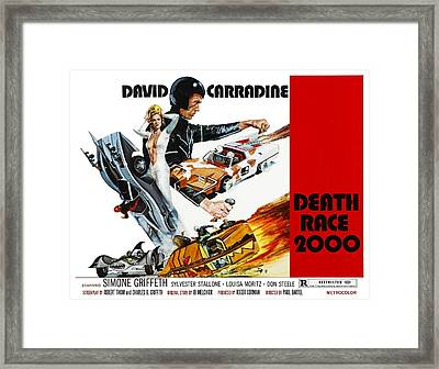 Death Race 2000, From Left Simone Framed Print by Everett