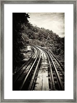 Death Railway Framed Print by Lois Romer