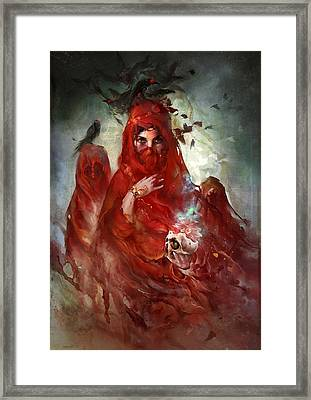 Framed Print featuring the digital art Death by Te Hu