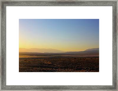 Death Valley -  A Beautiful But Dangerous Place Framed Print by Christine Till