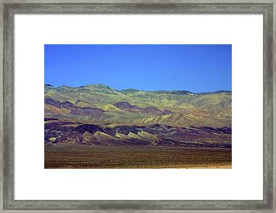 Death Valley - Land Of Extremes Framed Print by Christine Till
