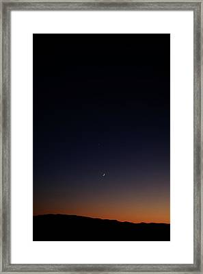 Death Valley - Last Light On The Desert Framed Print by Christine Till