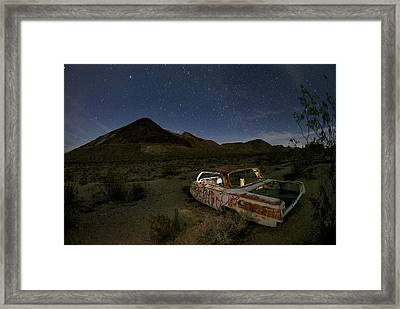 Death Valley Drive-in Framed Print by Sean Foster