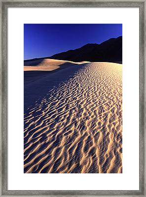 Death Valley Dune Framed Print by Eric Foltz