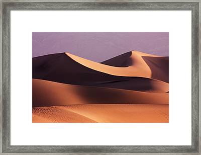Death Valley Dunes Framed Print by Matt  Trimble