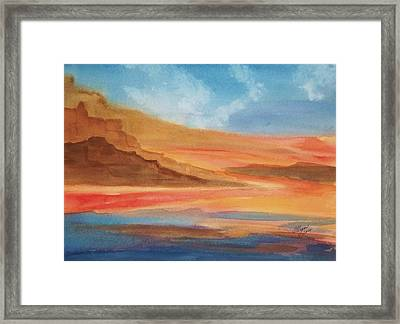 Framed Print featuring the painting Death Valley by Ellen Levinson