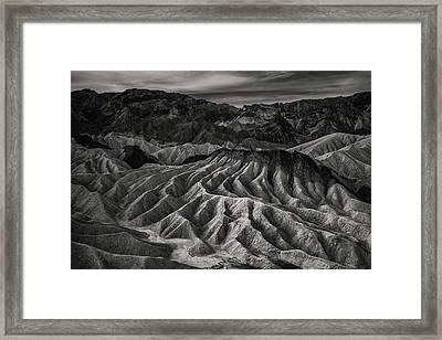 Death Valley Formation Framed Print by Joseph Smith