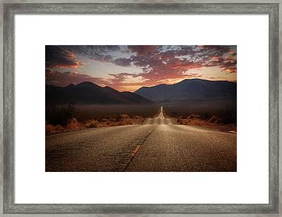 Death Valley Highway II Framed Print