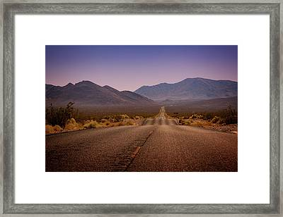Death Valley Highway Framed Print