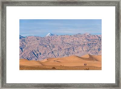 Death Valley Layers Framed Print
