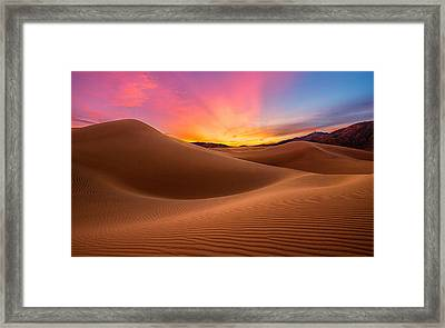 Death Valley Framed Print by Lincoln Harrison