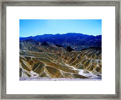 Framed Print featuring the photograph Death Valley Moguls by Don Struke