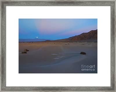 Death Valley Moonrise Framed Print