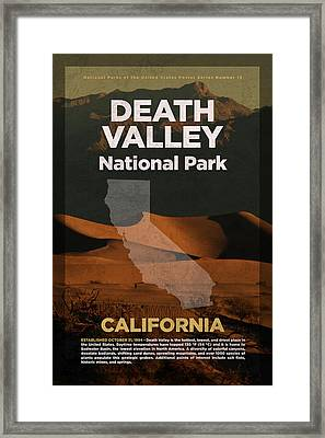 Death Valley National Park In California Travel Poster Series Of National Parks Number 13 Framed Print by Design Turnpike