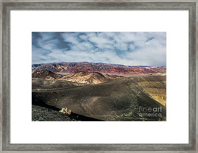 Death Valley National Park Ubehebe Crater Framed Print by Timothy Kleszczewski