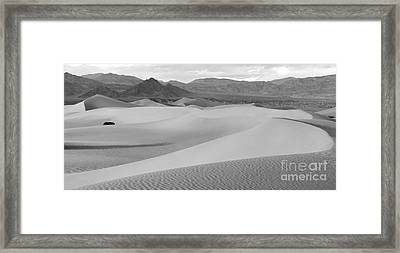 Death Valley Panoramic Sand Dunes Framed Print by Adam Jewell