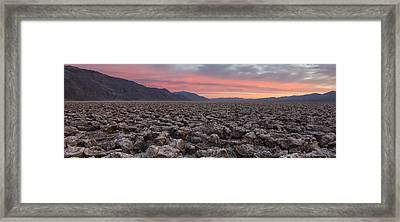 Framed Print featuring the photograph Death Valley by Patrick Downey
