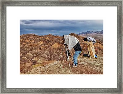 Framed Print featuring the photograph Death Valley Photographers by Jim Dollar