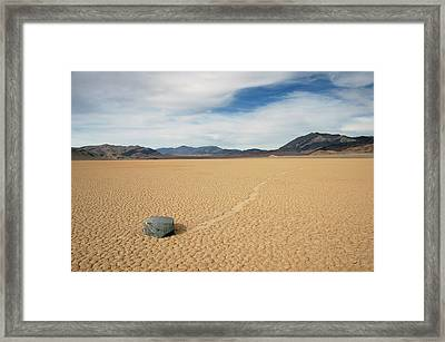 Death Valley Ractrack Framed Print
