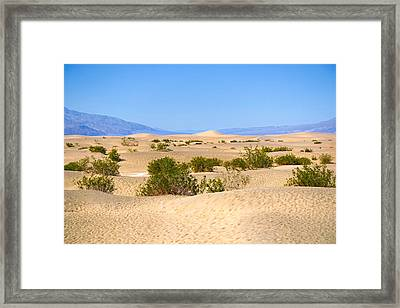 Death Valley Sanddunes Framed Print by Lutz Baar