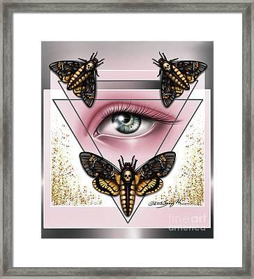 Death's Head Moths Framed Print