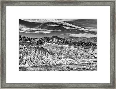 Deathvalley Cracks And Ridges Framed Print