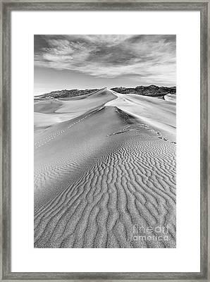 Deathvalley Ripples Framed Print by Jamie Pham