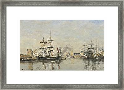 Deauville Le Bassin Framed Print
