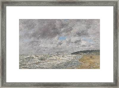 Deauville Le Rivage Par Gros Framed Print by MotionAge Designs