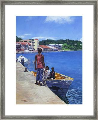Debarkation Framed Print