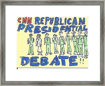 Debate Framed Print