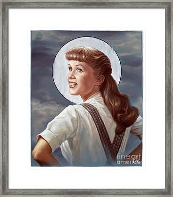 Debbie Reynolds Framed Print by Andre Koekemoer